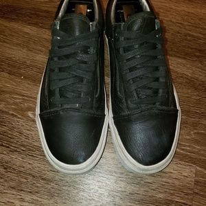 Vans Shoes - Black Leather Vans